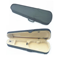 Black Full Size 4 4 Violin Case Cloth Fluff Triangle Acoustic Violin Bag Backpack With Double