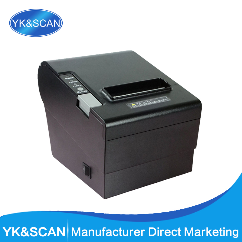 Auto-Cutter 80mm Thermal Receipt Printer YK-8030 Straight Thermal Print Design for cash register USB, LPT,PS/2  in one mqtt could printing solution gprs 2 inch thermal receipt printer with usb lan port support win10 and linux auto cutter