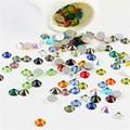 1400 unids/lote, ss3-ss30 Colores mezclados la Parte Posterior Plana Pegamento de cristal En Hotfix Rhinestones no Del Arte Del Clavo del teléfono de diy decoración