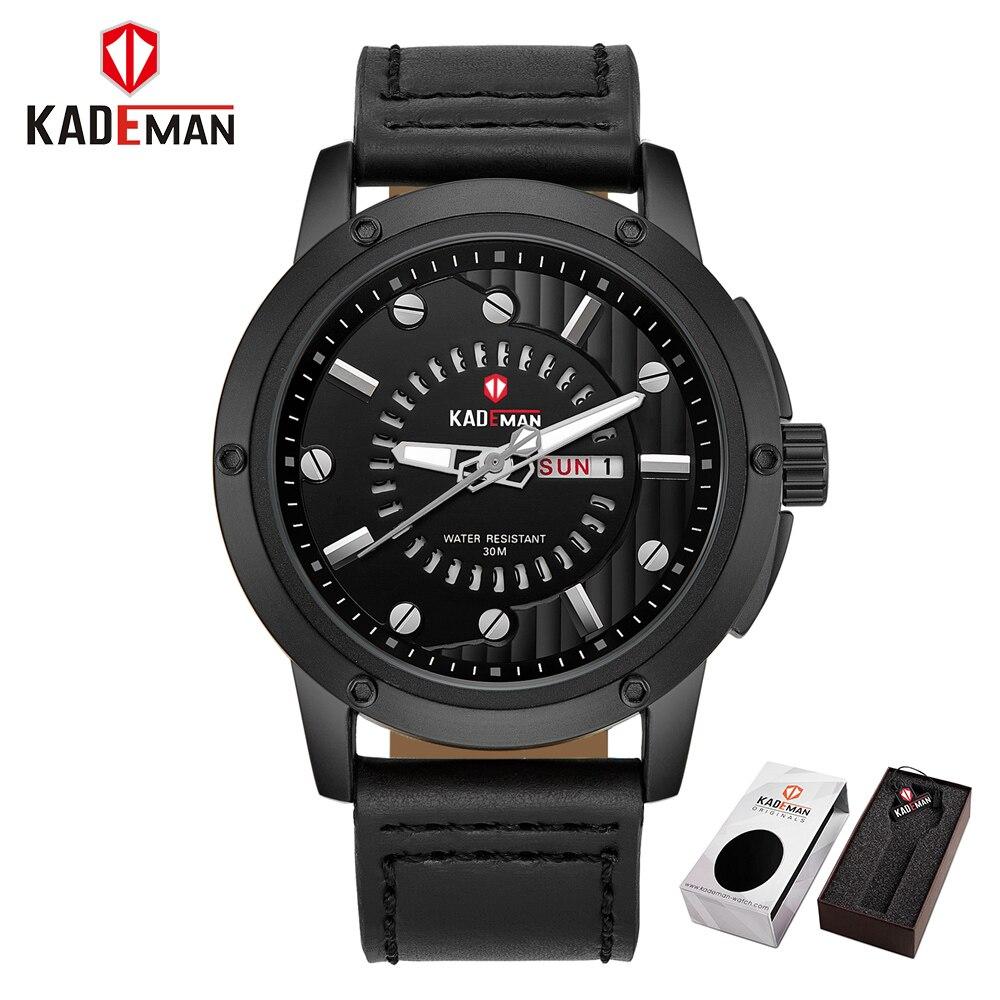 New Luxury Brand KADEMAN Men Classic Military Watches Men