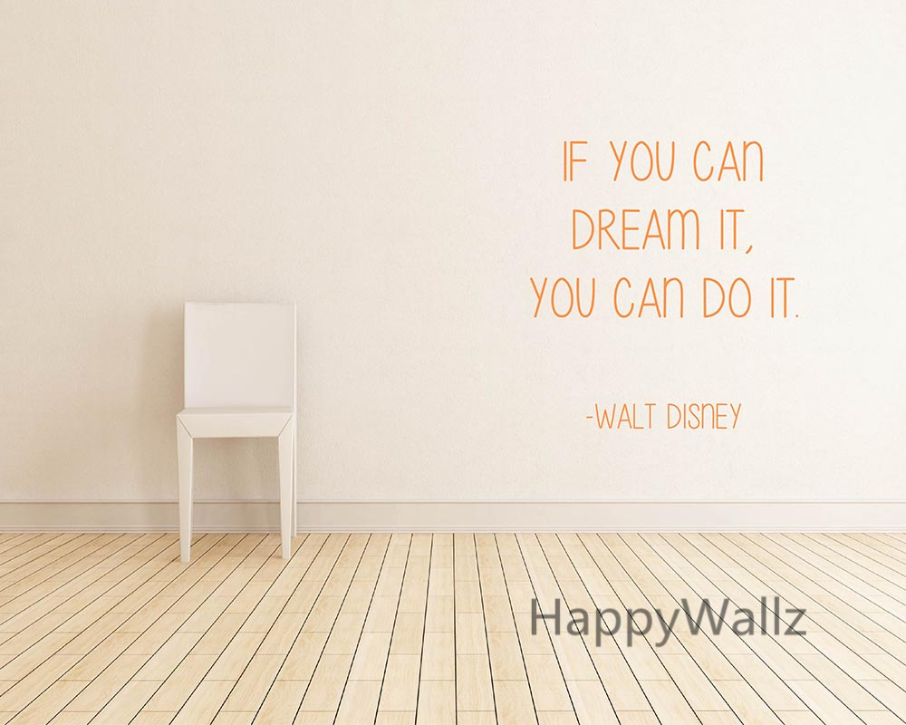 popular custom quote wall decal buy cheap custom quote wall decal motivational quote wall sticker if you can dream it you can do it diy inspirational lettering
