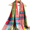 National Winter Bohemia Scarves Scarf Female Colorful Ethnic Classical Women Printed Retro tassels Fashion High quality New J034