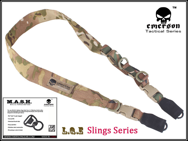 EMERSON L.Q.E One+Two Point Slings LQE Hunting Combat Tactical Gear Airsoft BD8490B Multicam