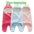 Baby Autumn Winter with Velvet Thickening Coral Fleece Warm Sleeping Bags Hold Blanket
