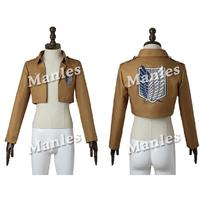 Attack on Titan Jacket Shingeki no Kyojin Top Shirt Halloween Costume Cosplay Rival Ackerman Rivaille Cosplay Jacket