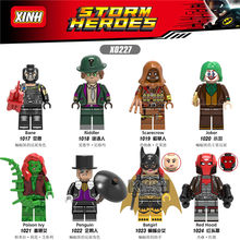 Legoingeds technic Joker Minifigs Single DC Riddler Scarecrow Poison Ivy Penguin Batgirl Red Hood Building Blocks Toys Gifts(China)