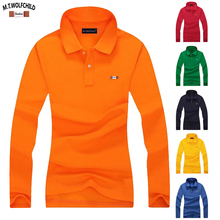100% Katoen 2019 Nieuwe Vrouwen Effen Kleur Lange Mouw Polo S Shirts Casual Revers Womens Polo Shirts Fashion Lady Slim tops S XXL