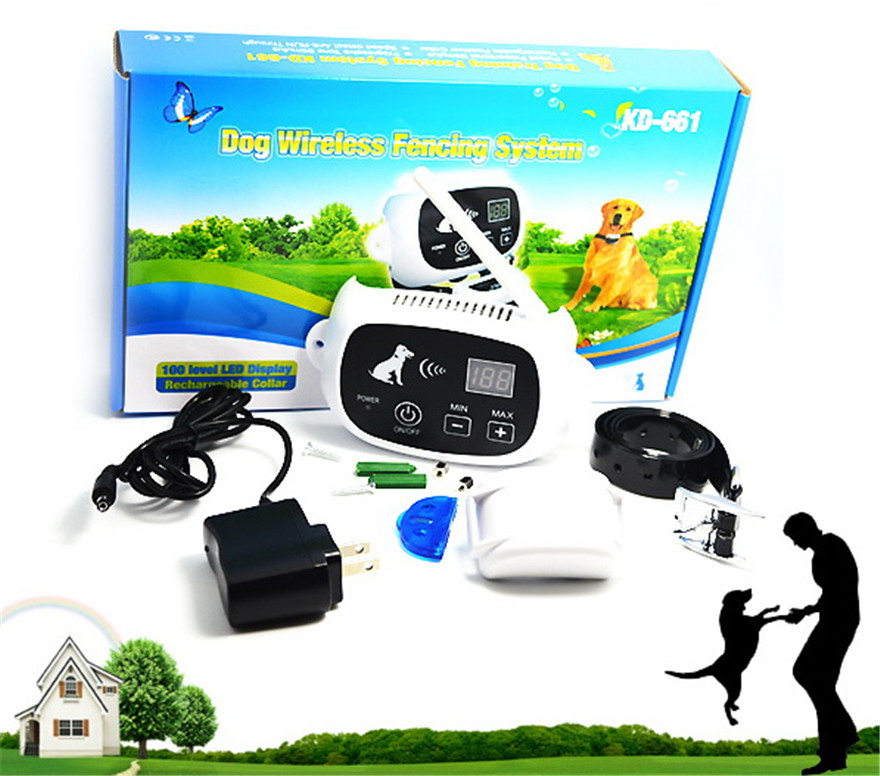 5pcslot outdoor dog wireless fencing system pet supplies electronic dog fence system yard