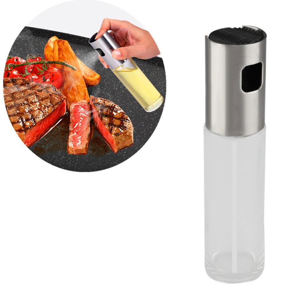 Olive Kitchen Accessories Price List: Aliexpress.com : Buy 100ml Oil Spray Bottle Pump Glass