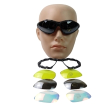 Daisy C4 Outdoor Windproof WARGAME Goggles Include 4 Lens And Soft Case glasses Goggles Eye Protective