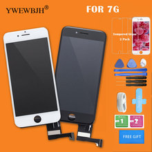 5pcs/lot Test AAA  LCD Touch Screen  For iphone 7 digitizer Assembly with 3D touch screen Replacement Black White  Free DHL for htc titan x310e lcd with touch screen digitizer assembly by free dhl ups or ems 100% warranty 5pcs lot