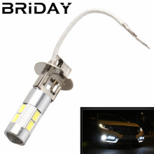 BRIDAY 2pcs H3 Car Fog Lights Led Bulb Lamp 5630 SMD Auto Leds bulbs Car Light Source parking DRL Headlight 12V