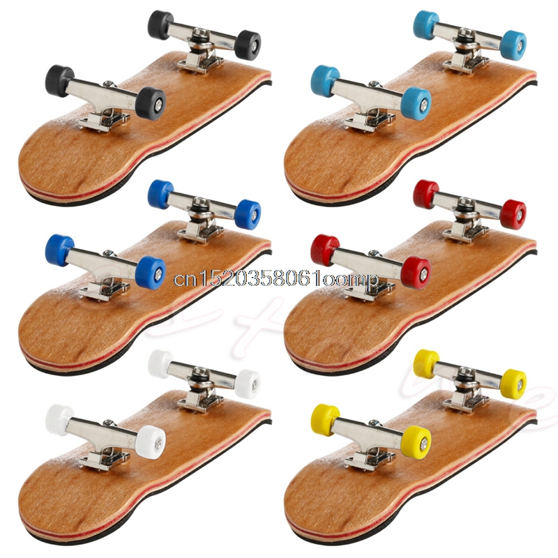 1 Set Wooden Deck Fingerboard Skateboard Sport Games Kids Gift Maple Wood #K4UE# Drop Ship