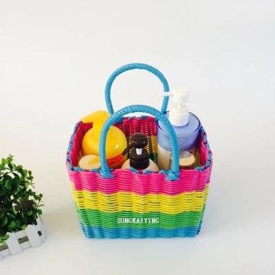 Woven storage basket shopping basket needlework bath basket vegetable basket