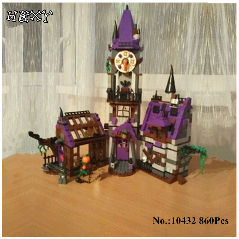 H&HXY IN STOCK 10432 Scooby Doo Mysterious Ghost House 860pcs Building Block Toys Compatible 75904 Blocks For Children gift Bela in stock h