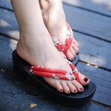 WHOHOLL Original Women Japanese Clogs Kimono Geta Cosplay Costumes Comiket Coser Wooden Shoes Flip-flops Wedge Sandals