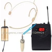 Sistema de microfone fone de ouvido sem fio receptor transmissor microfone portátil para sennheiser ew100 ew300 ew500 g1 g2 g3 mic