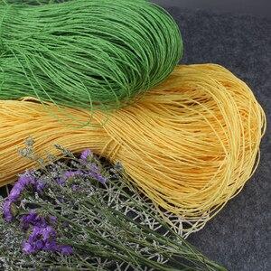Image 5 - Соломенная пряжа из рафии, 500 г/лот, пряжа для вязания крючком «сделай сам», летняя соломенная шляпа, сумки, подушки, корзины из материала