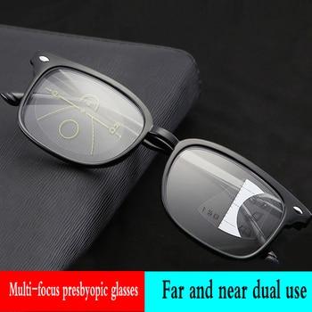 c1dd71e84c LUZ Ultra antifatiga Multifocal Progresiva comercial gafas de lectura  hombres Bifocal inteligencia dioptrías gafas + 1,0 + 1,50