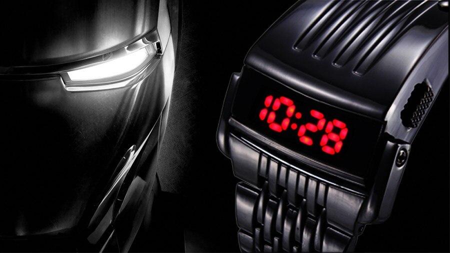 0dc64ccca7e Relógio do Homem de Aço de Ferro único Azul Vermelho Digitais LEVOU ...