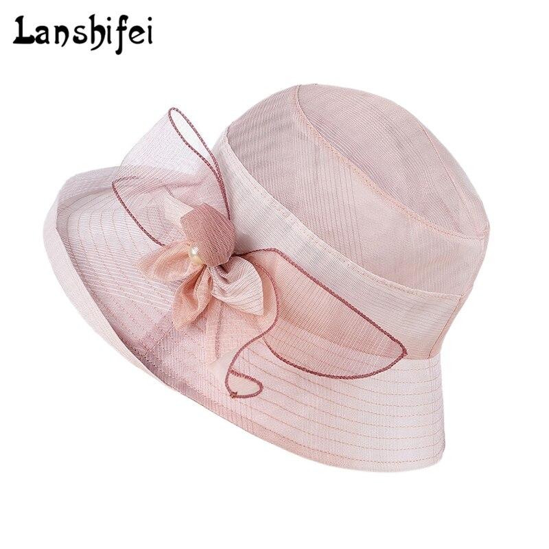 Summer Hat Lady Large Brim Gradient Color Flower Sun Hat Anti-UV Adjustable Beach Hats Elegant Girls Vacation Tour Chapeau Femme