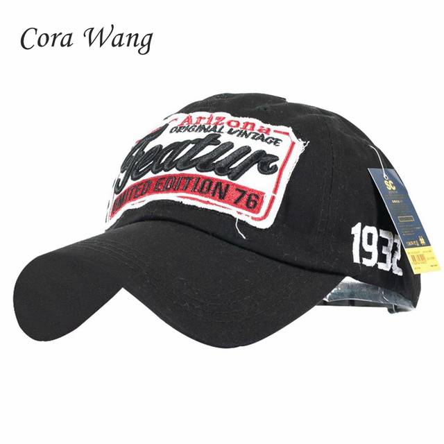 47ca39fac60 Online Shop Cora Wang 2018 Branded Baseball Cap Men Feature Cotton Snapback  Caps Feature Letters Patch Dad Hats For Men Women Bone Masculino