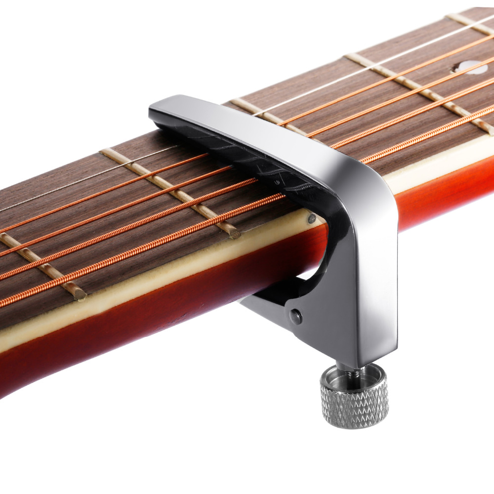 neewer silver lightweight aluminum guitar capo for 6 12 string acoustic electric guitar. Black Bedroom Furniture Sets. Home Design Ideas
