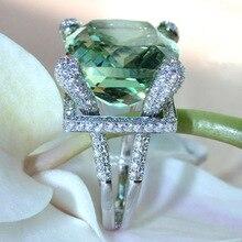 14 к золотые ювелирные изделия из перидота изумруд Топаз Кольцо для женщин Мистик Anillos De Bizuteria драгоценный камень алмаз бирюза квадрат модное кольцо