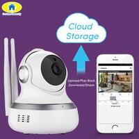 אחסון ענן זהב אבטחת 720 P מצלמת WiFI IP המצלמה זיהוי תנועת מצלמה בייבי מוניטור אבטחה מרחוק APP עבור 2018