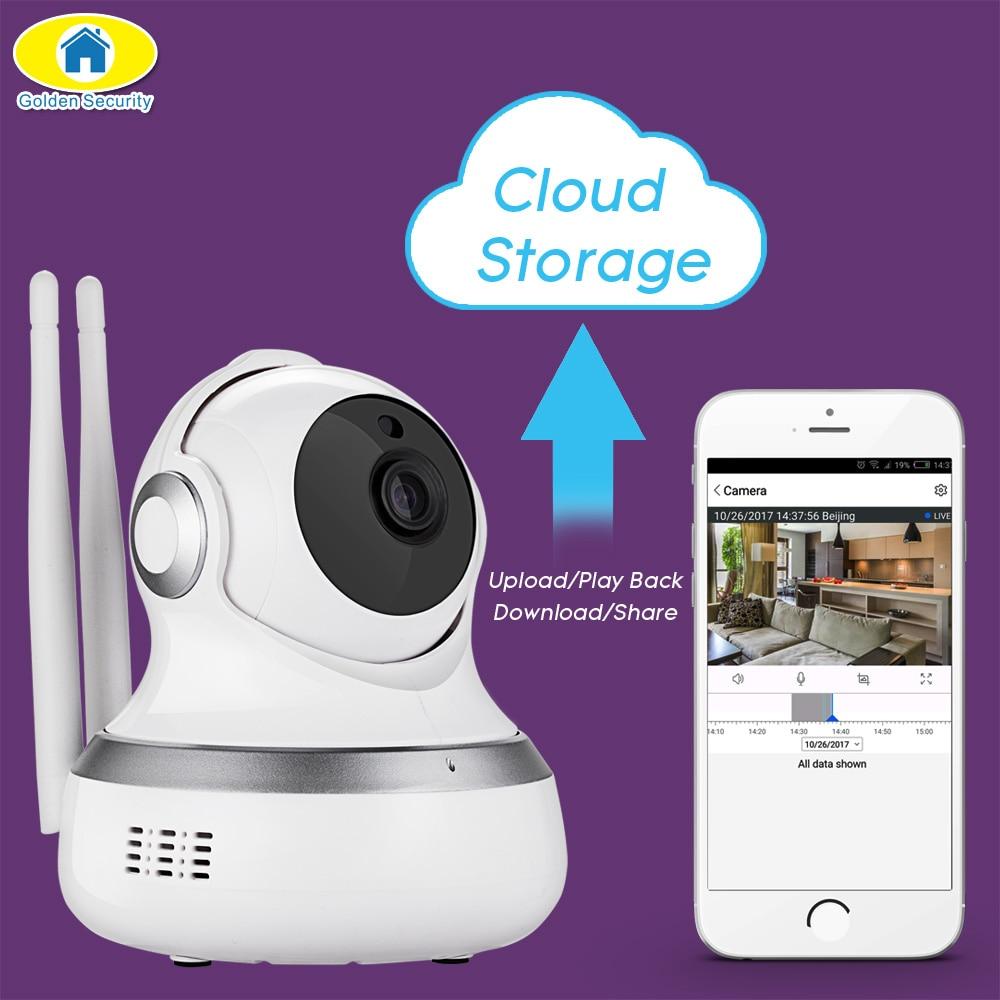 D'or de Sécurité 720 p De Stockage en Nuage Cam WiFI IP Caméra Détection de Mouvement APP À Distance Bébé Moniteur Caméra de Sécurité pour 2018
