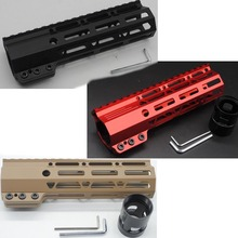 "7"" M-lok  Handguard Rail Clamping Style Picatinny Free Float Mount System Black/Red/Tan Color Fit .223.5.56"