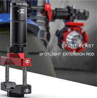 SPIRIT BEAST 오토바이 액세서리 고정 브래킷 헤드 라이트 브래킷 다기능 확장 레버 Creative Products Fixture