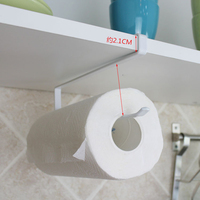 Wall Mounted Kitchen Cupboard Towel Rack Toilet Paper Holder Bathroom Roll Paper Holder Towel Rack Hand