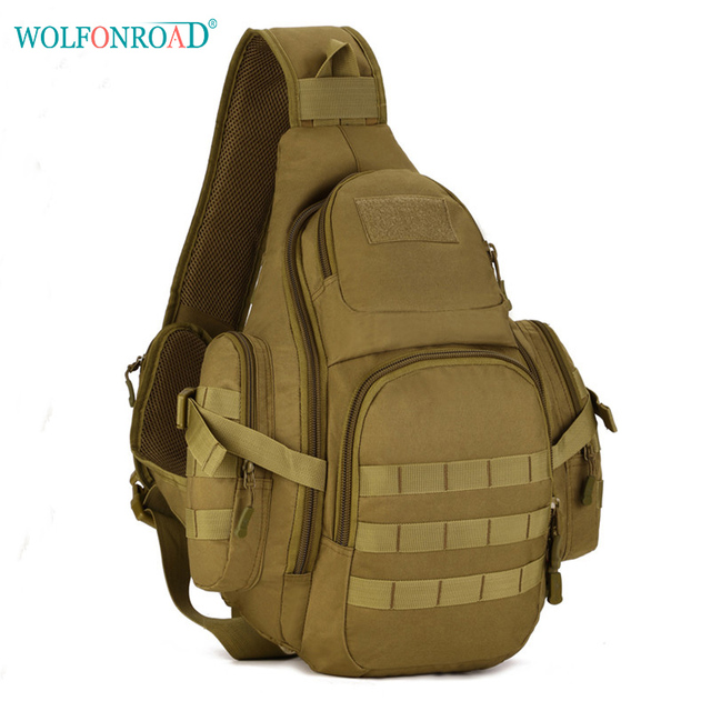 ca4bc7fe517a WOLFONROAD 14 iches Molle Military Backpack Men Sports Bag Shoulder  Waterproof Bags Travel Tactical Backpack City Jogging Bags