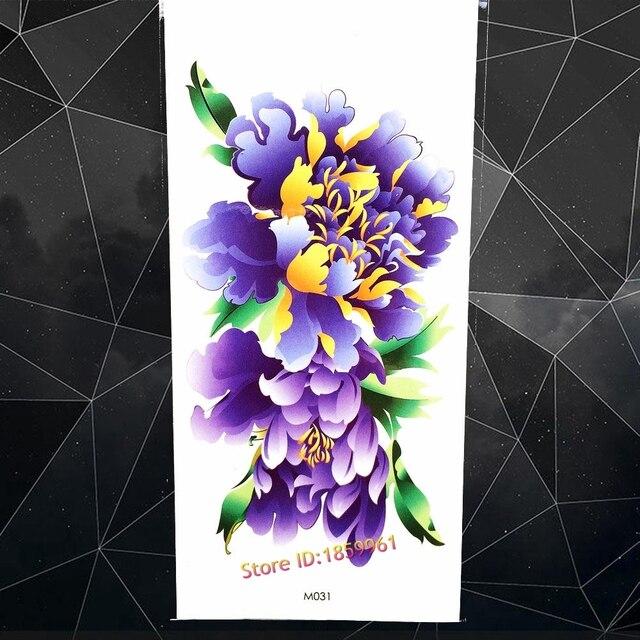 Watercolour Painting Temporary Tattoo Henna Flower Fake Flash Water
