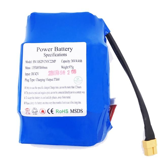ХОВЕРБОРДА Bateria скутер Батарея 36 В 4400 мАч 4.4ah lipo Батарея 18650 упак. для 2 Колёса балансируя Hover самоката доска
