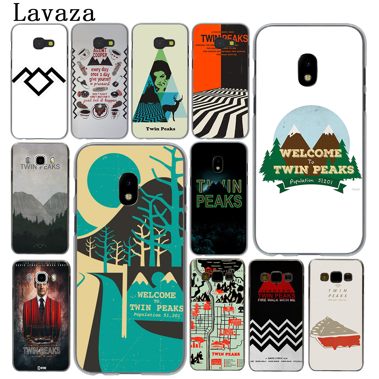 Lavaza Welcome To Twin Peaks Hard Phone Case for Samsung Galaxy J5 J1 J2 J3 J7 2017 2016 2015 2018 J3 J5 Prime Cover