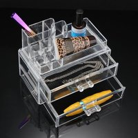 SZS Hot Cosmetics Organizer Clear Acrylic Makeup Organizer Holder Multiple Display
