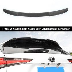 Dla LEXUS NX NX200t 300 H NX200 2015 2016 2017 2018 2019 2020 tylne skrzydło spojler z włókna węglowego do krawędzi bagażnika skrzydła spojlery szybka przez EMS w Spoilery i skrzydła od Samochody i motocykle na