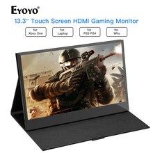 Eyoyo 13.3 EM13K LCD Monitor VAG 1920x1080 IPS Gaming compatible for Game Consoles computer USB PC Screen hdmi display
