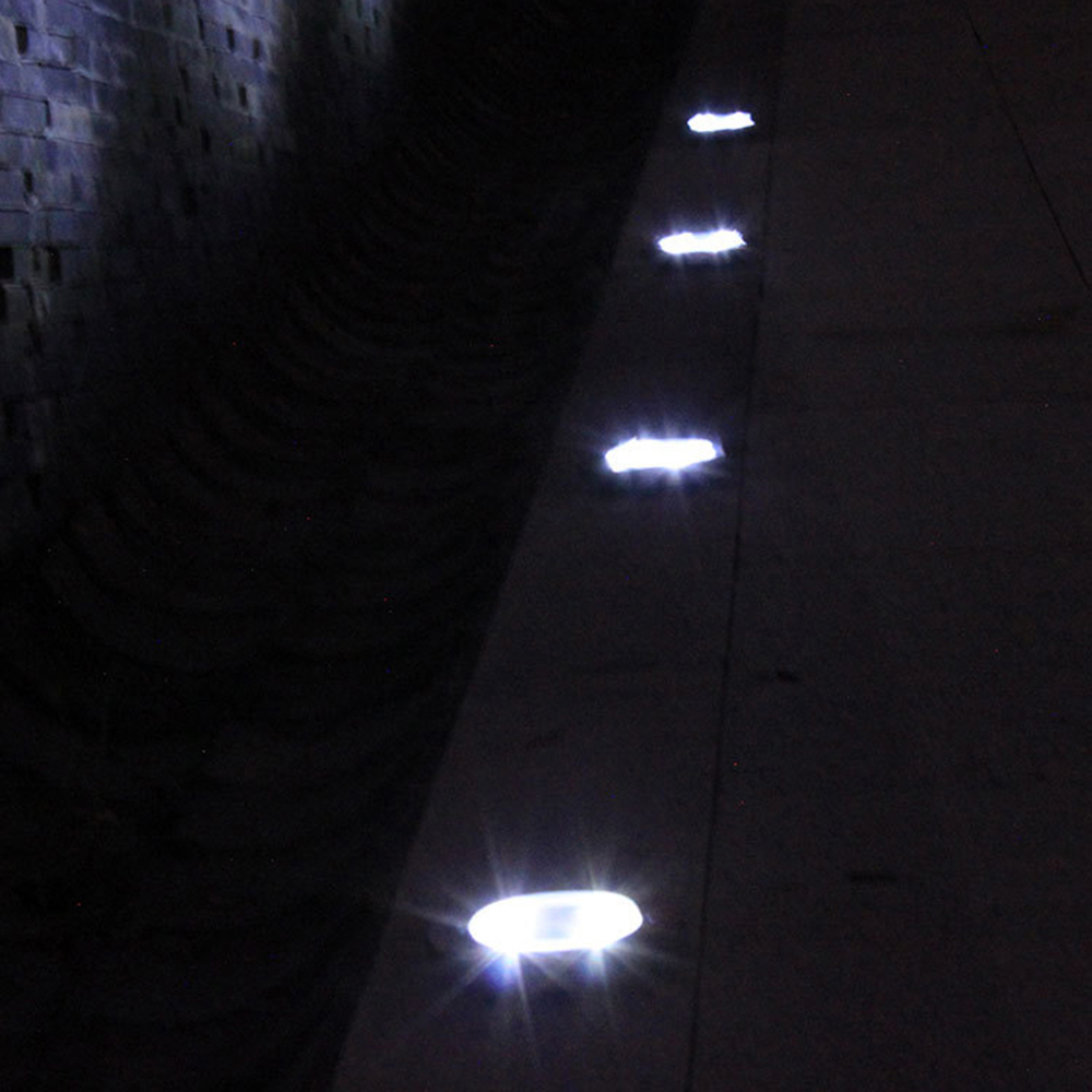 4pcs/lot 8 LED Solar Light Waterproof Outdoor LED Garden Lawn Light Solar Power Yard Stair Underground Light White Warm White