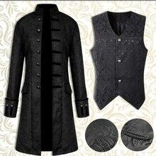 Новинка, мужские ветровки в стиле стимпанк, ретро Тренч, мужская куртка, пальто, готическое викторианское платье, Униформа, средневековое пальто/жилет, опера, костюм