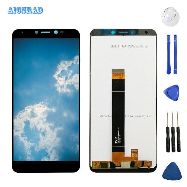 Tela lcd aicsrad para android 2 / tommy 3 plus, peças de reparo e montagem de tela sensível ao tommy3 harry2 + ferramentas,