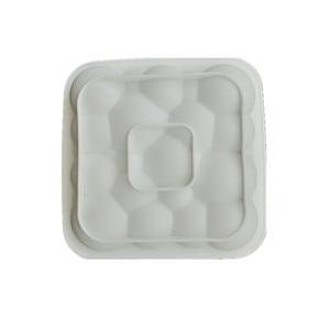 Image 5 - 3 قطعة كتلة الشبكة الغيوم تموج ثلاثية الأبعاد موس قوالب كعك للآيس كريم الشوكولاته قالب الكعكة عموم خبز الأشكال الهندسية