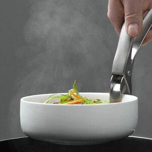 Image 3 - Le plus récent HUOHOU Anti chaud Anti brûlure Pot bol casserole bol pince batterie de cuisine cuisson pique nique bras de suspension transporteur poignée pince