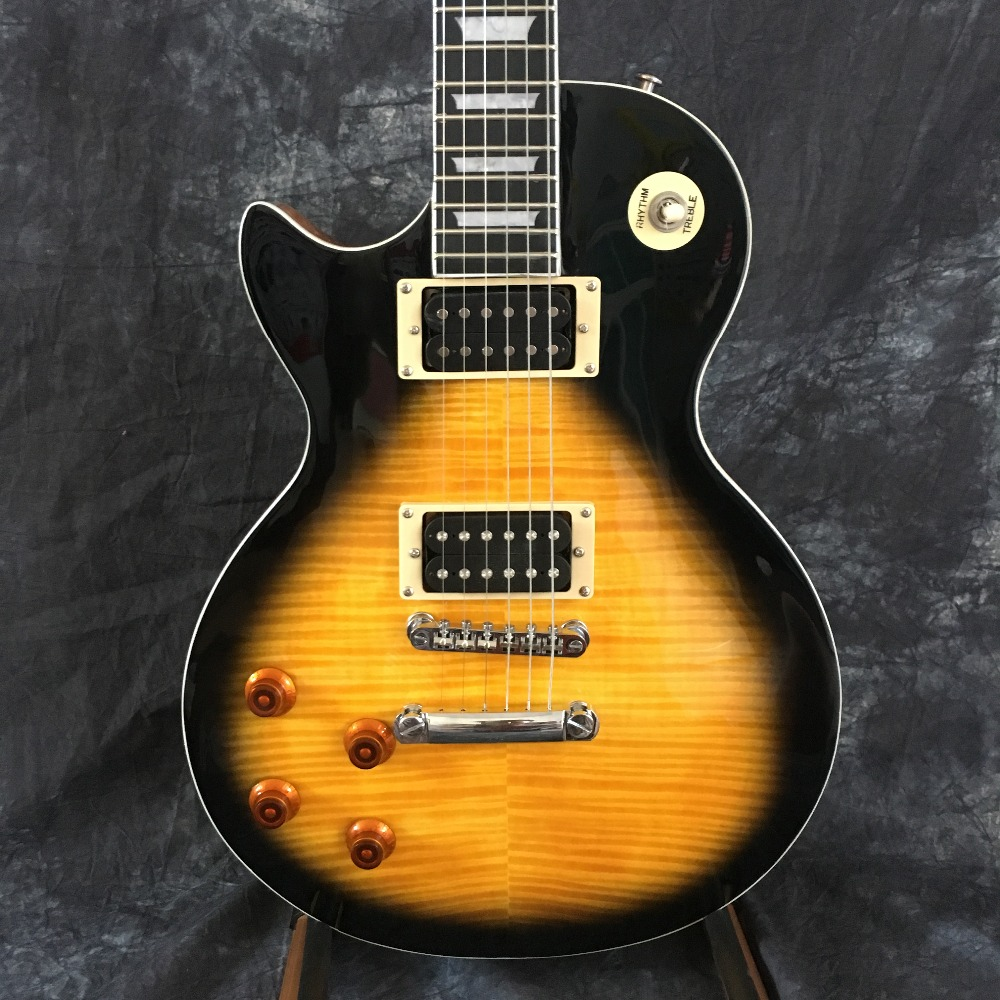 classic left hand guitar lp electric guitar sunburst good sound new style free shipping in. Black Bedroom Furniture Sets. Home Design Ideas