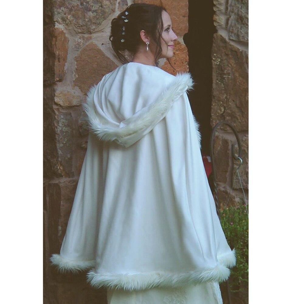 2018 Cause Wedding Wrap White Bridal Jackets Accessories Winter ...