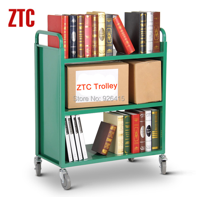 3 Layer Library Steel Book Cart With 4 Wheels Storage Mobile Bookshelf Rca 3s Lib02 In Furniture From On