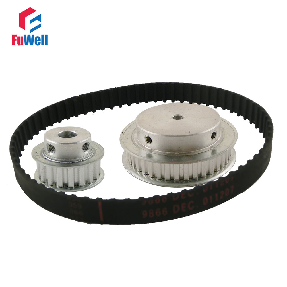 XL Reduction Timing Belt Pulley Set 16T:48T 1:3/3:1 Ratio Gear Kit Shaft Center Distance 127mm 166XL Toothed Belt Pulley цена 2017