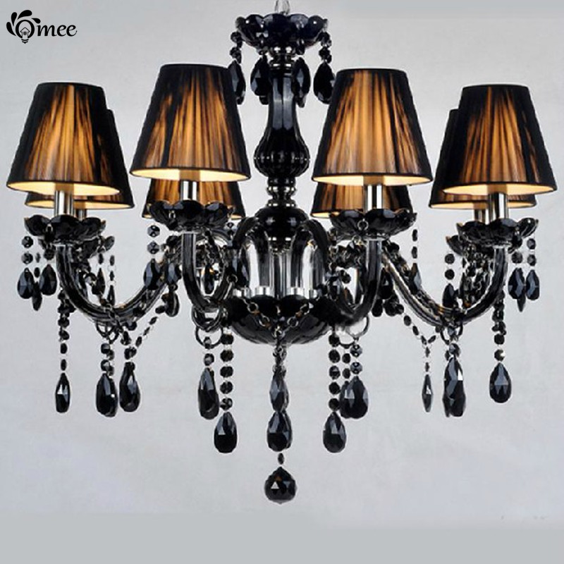 Black Chandelier Crystal Chain Re